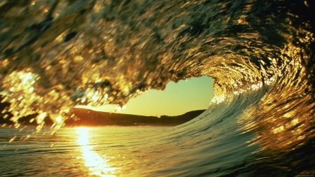 Under the waves! - water, ocean, nature, beautiful, waves, wave