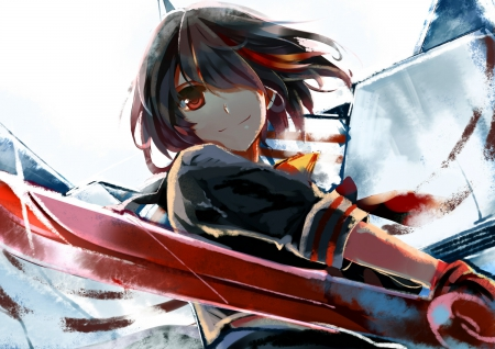 Lets rock - red, kill, form, matoi, la, slash, anime, formr, scary, Kill