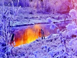 Purple Frozen River