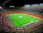 camp nou soccer stadium in barcelona