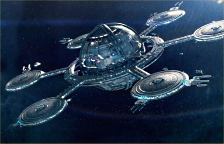 star trek space station - bloom, infite, round, vast