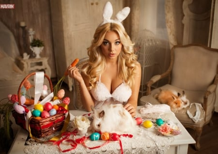Getting Ready For Easter - Models Female & People Background ...