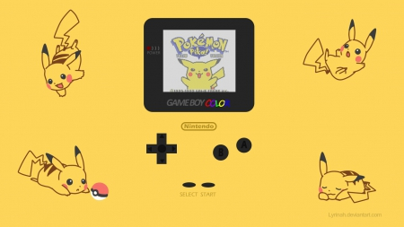 Pokemon Yellow Gameboy Color Handheld Devices Video Games Background Wallpapers On Desktop Nexus Image 1737192