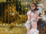 Victorian Ladies at the Zoo