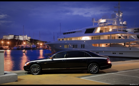Limo and Yacht - limousine, luxury yacht, yacht, Limo and Yacht, limo