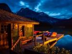 The boat cabin at Emerald lake