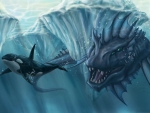 underwater monster