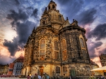 frauenkirche church in dresden germany hdr