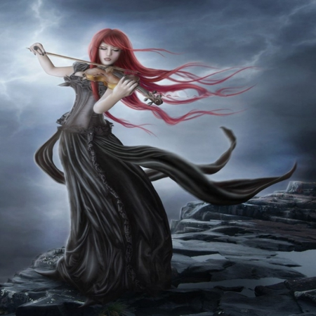 Violinist S Passion Other Abstract Background Wallpapers On Desktop Nexus Image 1745545