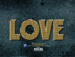 love _ Gold Text Effect_Photoshop-Cc_By KarimGFX