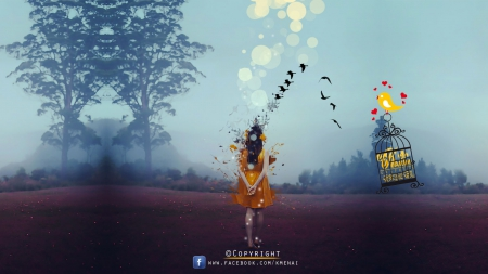 Canvas Size & Dispersion Photomanipulation _ Adobe Photoshop _By KarimGFX - ELENA, LENA, KARIM, MIRAK