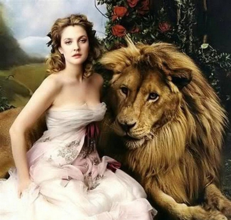Woman And Lion Fantasy Abstract Background Wallpapers On Desktop