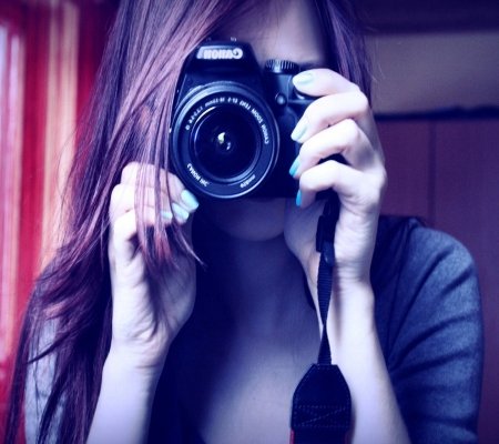 Camera Girl Photography Abstract Background Wallpapers