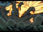 Kyuubi vs Hashirama's Wooden Dragon