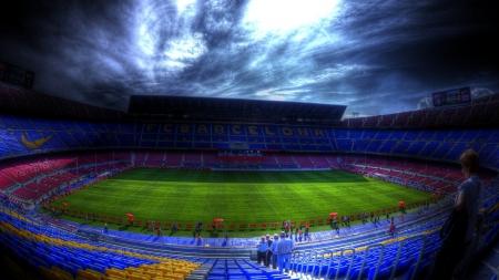 Soccer stadium for fc barcelona hdr soccer sports background wallpapers on desktop nexus - Soccer stadium hd ...