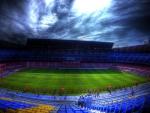 soccer stadium for FC barcelona hdr