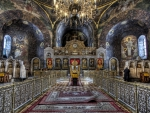 interior of a magnificent orthodox church hdr