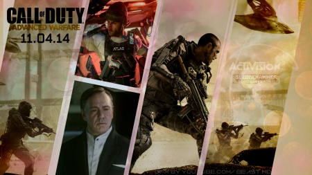 Call of Duty: Advanced Warfare Wallpaper (v2) - advanced, duty, hd, of, warfare, game, Call, video, activision, modern, ps4, cod, xbox, onx, sledgehammer
