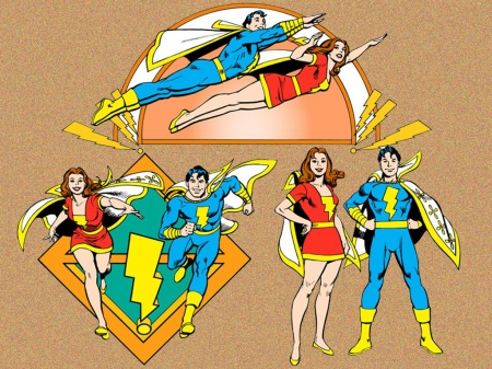 Mary Marvel And Captain Marvel Jr Other Entertainment Background