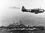 WWII War Scene with USS Washington