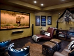 Relaxing Home Theater Room