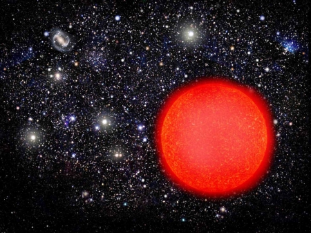 Red Giant Star Fantasy Abstract Background Wallpapers On Desktop Nexus Image 1756107
