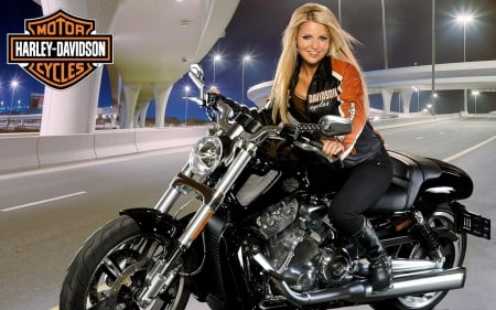 Blonde biker girls — 1