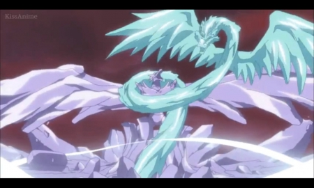 Dragon War - pretty, scenic, zanpakuto, beautiful, magic, wing, dragon, sweet, nice, fantasy, anime, beauty, scenery, bleach, fighting, wings, lovely, hyourinmaru, shinigami, bankai, soul reaper, magical, soul society, fight, scene, creature