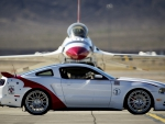 FORD MUSTANG FRONT OF JET