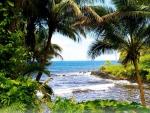 Natural Window To Beach, Oahu
