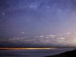 starry sky at twilight