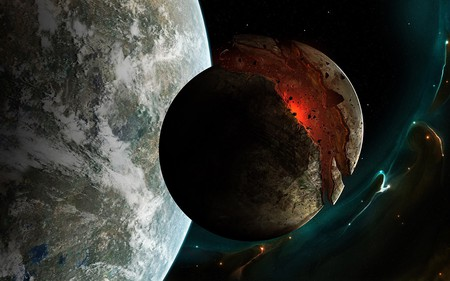 PLANET X BURSTS - space, burst, planets, wallpaper