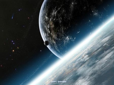 Western Hemisphere - space, gucken, jeff, michelmann, universe, planets, western, planet, hemisphere