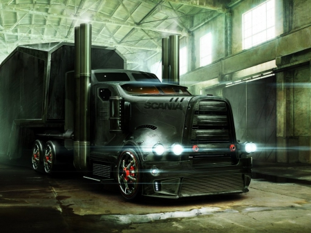 Scania Truck 3d And Cg Abstract Background Wallpapers On