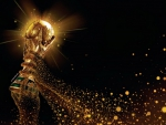 World cup trophy art