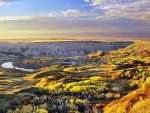 fabulous landscape in alberta canada hdr