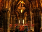 gorgeous interior of a church hdr