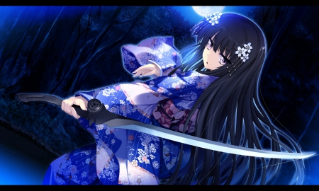 Kimono Sword - Other & Anime Background Wallpapers on ...