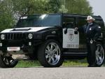 POLICE HUMMER GEIGER FRONT ANGLE