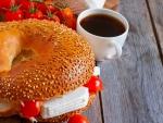 * For breakfast *