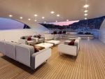 view from interior deck of a yacht
