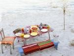 wonderful dining on the beach