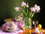 Tea Time with Irises