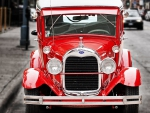 vintage red ford