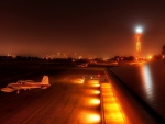 lovely little airport at night