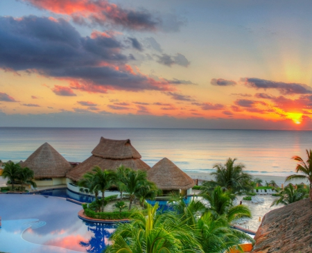 Sunrise At Cancun Mexico Beaches Nature Background Wallpapers On Desktop Nexus Image 1766101