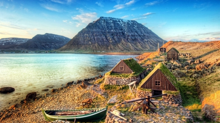 Ancient Fishing Village Other Nature Background
