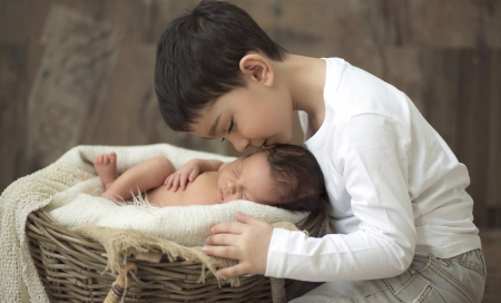 * Brothers * - boy, brother, angel, sweet dreams, child, childhood, baby