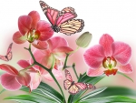 Blooms and wings in pink