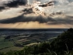 sunbeams over the valley